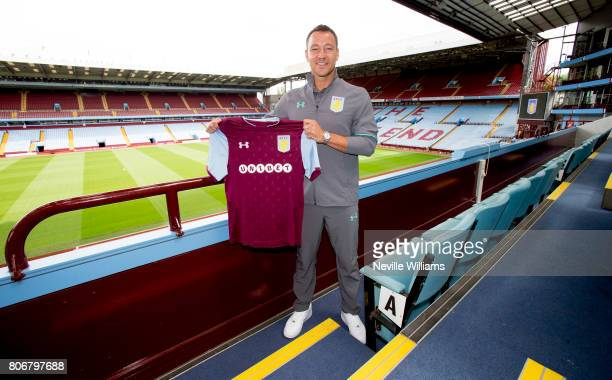 New signing John Terry of Aston Villa poses for a picture at Villa Park on July 03 2017 in Birmingham England