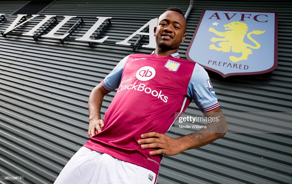 New signing <a gi-track='captionPersonalityLinkClicked' href=/galleries/search?phrase=Jordan+Ayew&family=editorial&specificpeople=6595555 ng-click='$event.stopPropagation()'>Jordan Ayew</a> of Aston Villa poses for a picture at the club's training ground at Bodymoor Heath on July 27, 2015 in Birmingham, England.