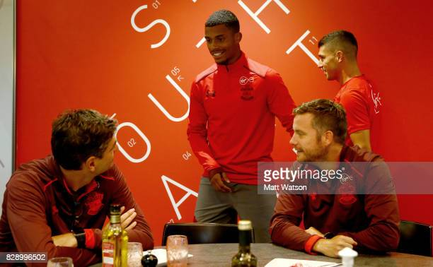 new signing Mario Lemina on his first day at the club at the Staplewood Campus on August 9 2017 in Southampton England