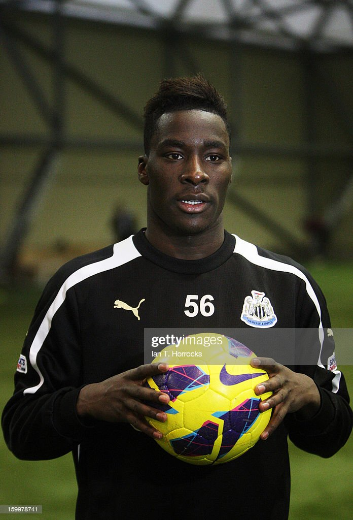 New signing Massadio Haidara of Newcastle poses with a ball after completing his transfer to Newcastle United on January 24, 2013 in Newcastle upon Tyne, England.