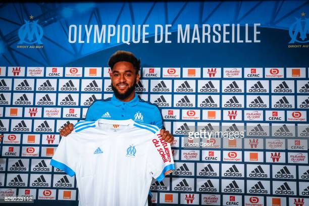 New signing player Jordan Amavi during press conference of Olympique de Marseille on August 10 2017 in Marseille France