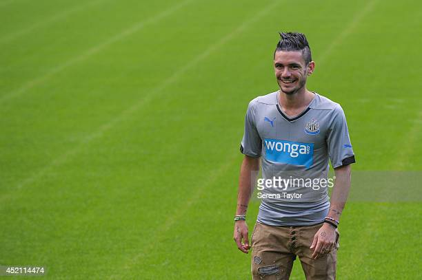 New signing Remy Cabella walks on the pitch at StJames' Park on July 13 2014 in Newcastle upon Tyne England