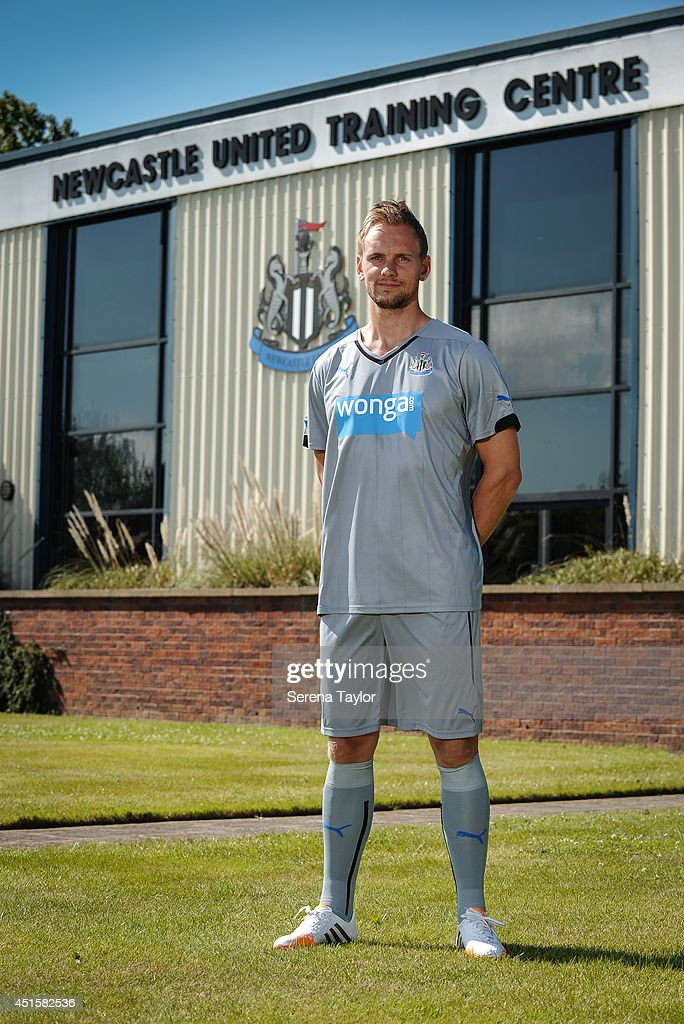 New signing Siem de Jong poses for photographs outside at The Newcastle United Training Centre on July 01, 2014 in Newcastle upon Tyne, England.