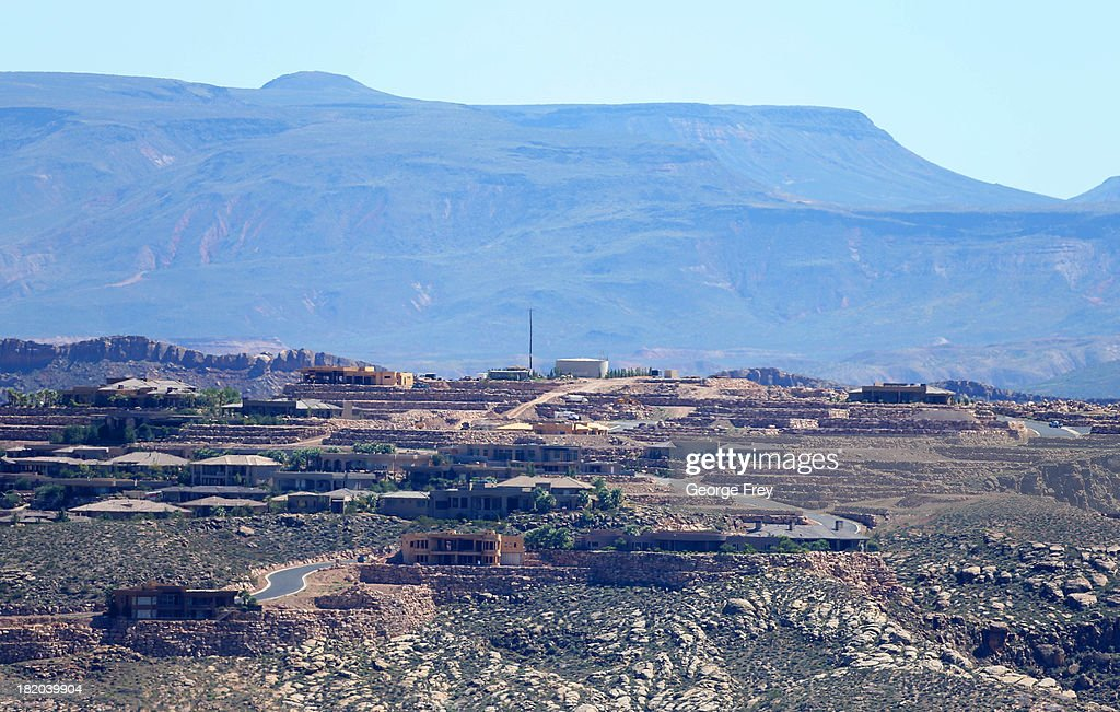 New single-family homes and others under construction are shown on a hillside September 27, 2013 in St. George, Utah. Housing starts on single-family rose at a faster pace in August, and building permits rose to a five-year high, according to published reports this week.
