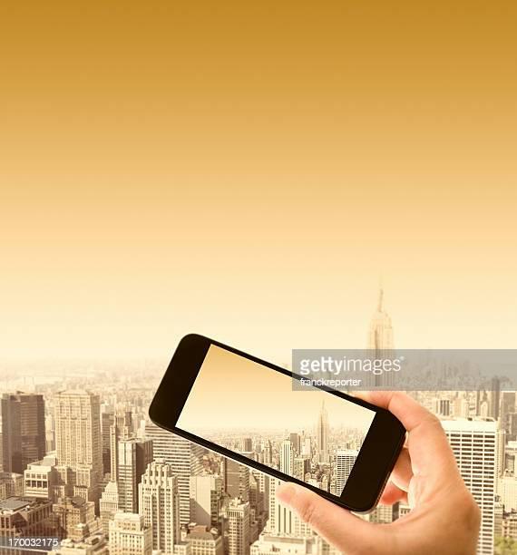 smartphone Nehmen Sie ein Foto in NYC