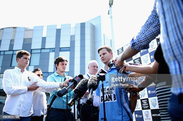 New South Wales and Australia captain Steve Smith speaks to the media during a press conference at Moore Park on October 2 2015 in Sydney Australia