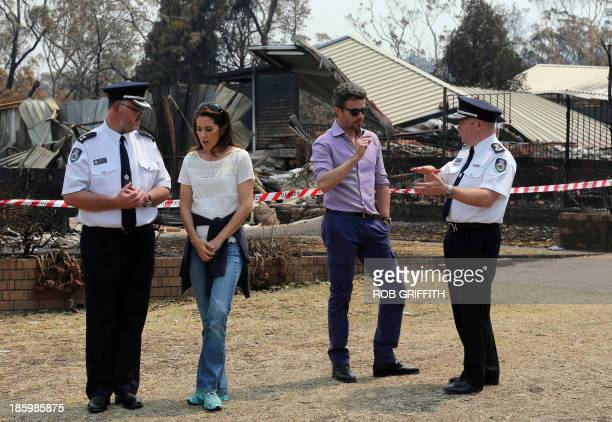 New South Wales state Rural FireService Superintendent David Jones Denmark's Crown Princess Mary Crown Prince Frederick and NSW RFS Commissioner...