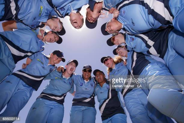 New South Wales Women celebrate winning the National Indigenous Cricket Championships beating Queensland on February 13 2017 in Alice Springs...