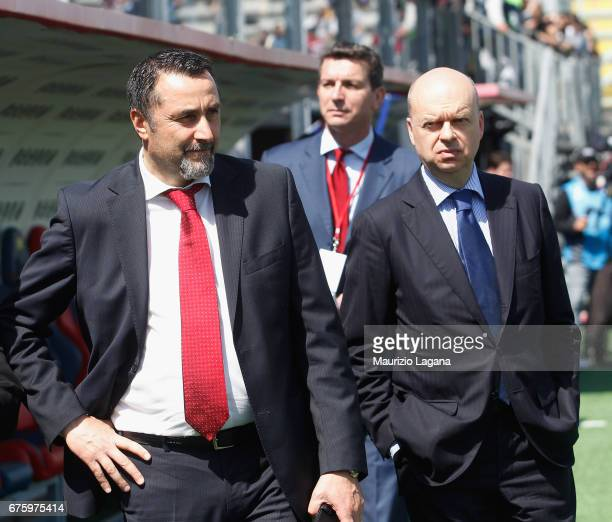 New sporting director and AD of Milan Massimiliano Mirabelli and Marco Fassone during the Serie A match between FC Crotone and AC Milan at Stadio...