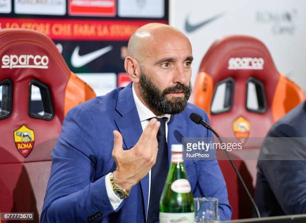 New Sporting Director Ramon Rodriguez Verdejo Monchi attends an AS Roma press conference on May 3 2017 in Rome Italy