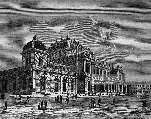 New stock exchange in frankfurt hesse germany woodcut 1888 europe