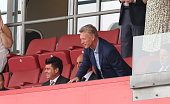New Sunderland manager David Moyes takes his seat in the stand during the PreSeason Friendly match between Rotherham United and Sunderland AFC at The...