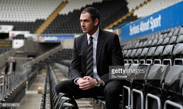 New Swansea City head coach Paul Clement faces the media at the Liberty Stadium on January 5 2017 in Swansea Wales