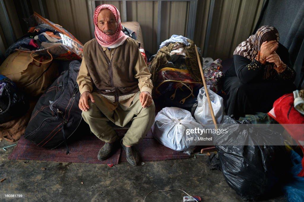 ZA'ATARI JORDAN JANUARY 30 New Syrian refugees arrive at the International Organization for Migration at the Za'atari refugee camp on January 30 2013...