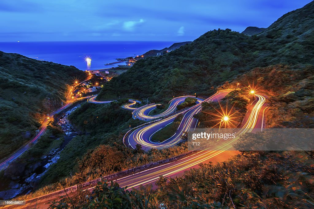 New Taipei City highway views : Stock Photo
