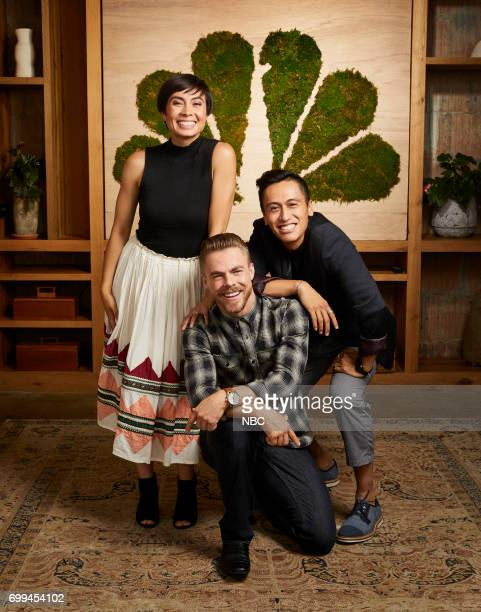 EVENTS New Talent Mixer NBC Portrait Studio Pictured Keone Derek Hough Mari 'World Of Dance'