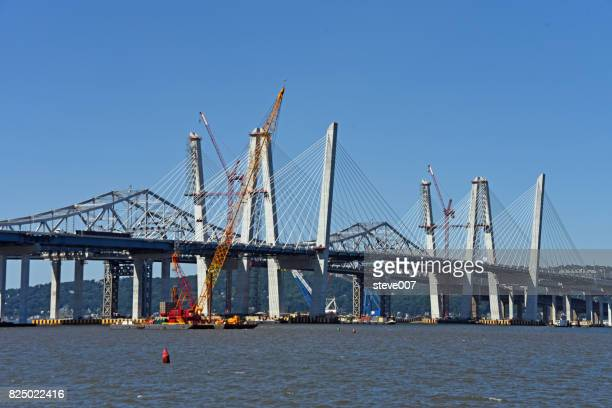 New Tappan Zee Bridge To Open August 25, 2017. The New Bridge Connecting Westchester County And Rockland County In New York State In Tarrytown New York Will be Called The Mario M. Cuomo Bridge.