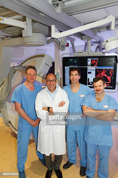 New technology for Vac at the hospital PierreWertheimer in Lyon in the neurology department the thrombectomie the new manual surgical technique to...