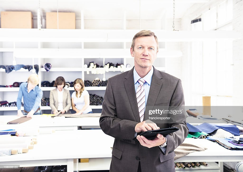 New technology inside the industry - digital tablet : Stock Photo