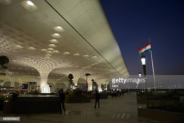 New Terminal 2 at Chhatrapati Shivaji International Airport on January 10 2014 in Mumbai India