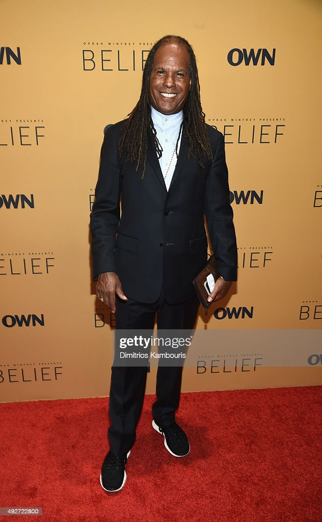 New Thought minister, author Michael Beckwith attends the 'Belief' New York premiere at TheTimesCenter on October 14, 2015 in New York City.