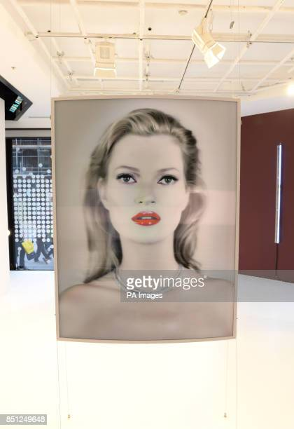 A new three dimensional portrait of Kate Moss called 'She's Light' unveiled as makeup artist Charlotte Tilbury hosts an event that is dedicated to...