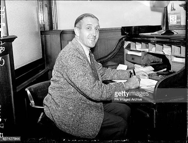 New Tottenham Hotspur manager Arthur Rowe at his desk
