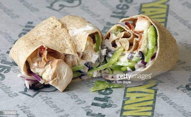 A new Turkey and Bacon Melt Wrap is seen December 29 2003 in Chicago Subway restaurants today started to offer two Atkins Nutritionals Incendorsed...