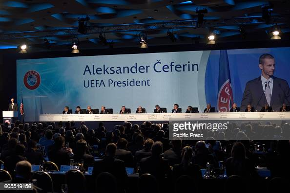 LAGONISI ATHENS ATTIKI GREECE New UEFA President Aleksander eferin in the 12th Extraordinary Uefa Congress in 14 of September in Athens The UEFA...