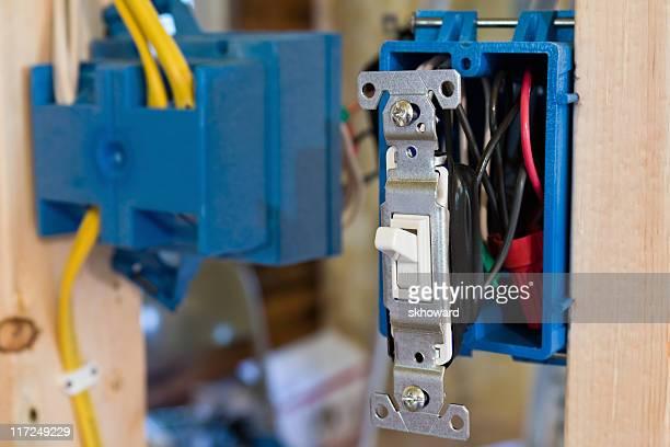 Neue entdeckt Lichtschalter im Bau-Projekt