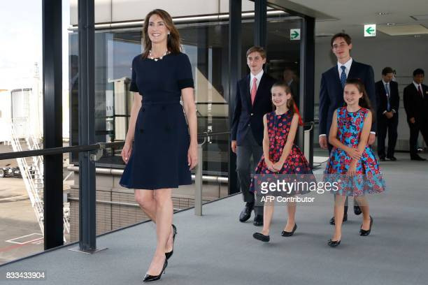 New US Ambassador to Japan William F Hagerty IV's wife Chrissy Hagerty and their children arrive at Narita International Airport in Narita east of...