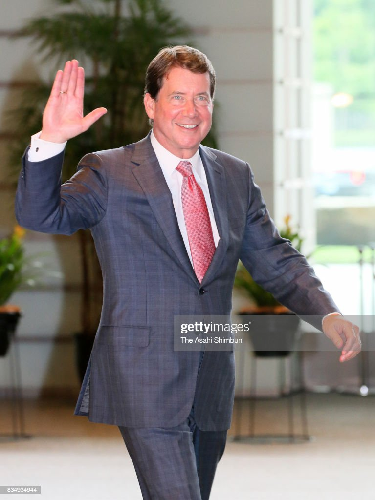 New U.S. Ambassador to Japan William Hagerty is seen on arrival at prime minister's official residence on August 18, 2017 in Tokyo, Japan.