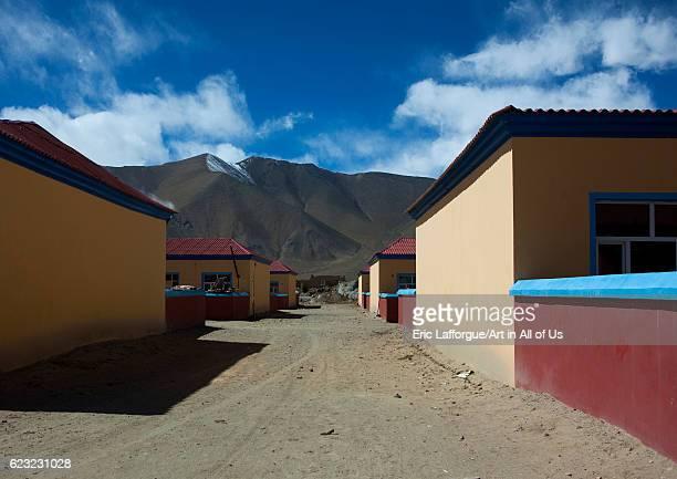 New village for kyrgyz people near Karakul lake Xinjiang Uyghur Autonomous Region China on September 21 2012 in Karakul Lake China