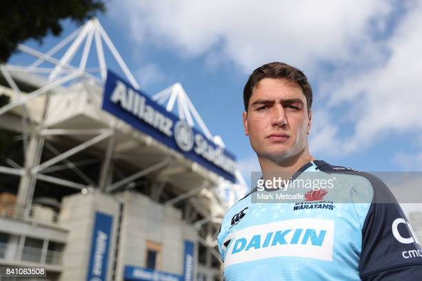 New Waratahs signing Rob Simmons poses during a Waratahs media opportunity at NSW Waratahs HQ on August 31 2017 in Sydney Australia
