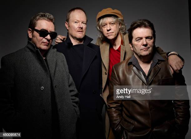 New wave pop band the Boomtown Rats are photographed on January 23 2013 in London England