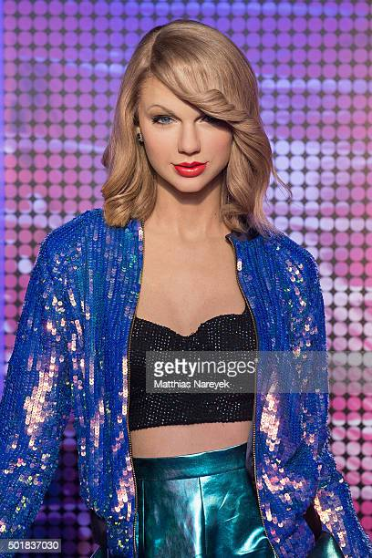 A new wax figure of Taylor Swift is presented at Madame Tussauds on December 18 2015 in Berlin Germany