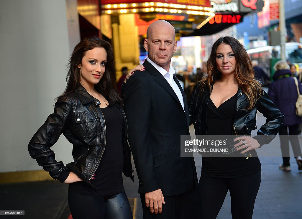 A new wax figure of US actor Bruce Willis is unveiled at Madame Tussauds New York, in New York, January 29, 2013. The new figure featuring Willis styled in a black suit and white dress shirt with open collar, was unveiled prior to the release next month of Willis' latest movie 'A Good day to Die Hard'. AFP PHOTO/Emmanuel Dunand