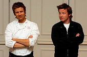 A new waxwork model of celebrity chef Jamie Oliver is unveiled by the Naked Chef as the latest addition to Madame Tussauds at Baker Street on July 19...
