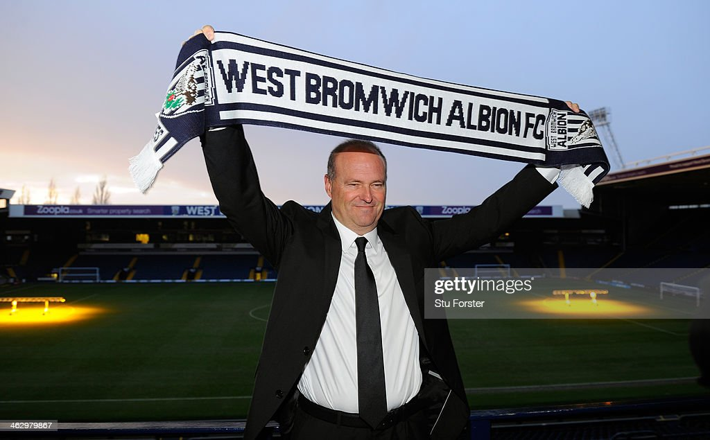 New West Bromwich Albion manager <a gi-track='captionPersonalityLinkClicked' href=/galleries/search?phrase=Pepe+Mel&family=editorial&specificpeople=3667674 ng-click='$event.stopPropagation()'>Pepe Mel</a> faces the media before the press conference to announce his arrival, at The Hawthorns on January 16, 2014 in West Bromwich, England.