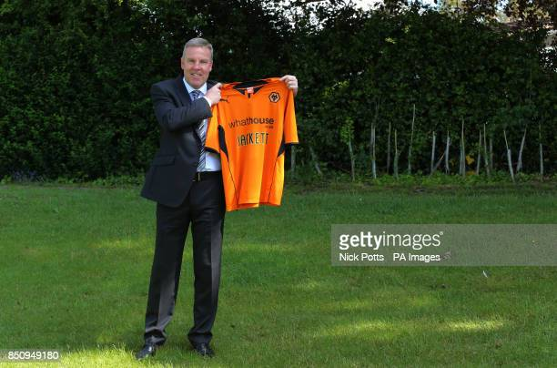New Wolverhampton Wanderers manager Kenny Jackett is unveiled during the press conference at Compton Training Ground Wolverhampton
