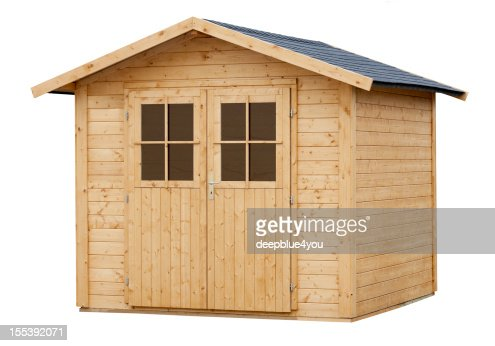 New Wood Garden Shed isolated on white