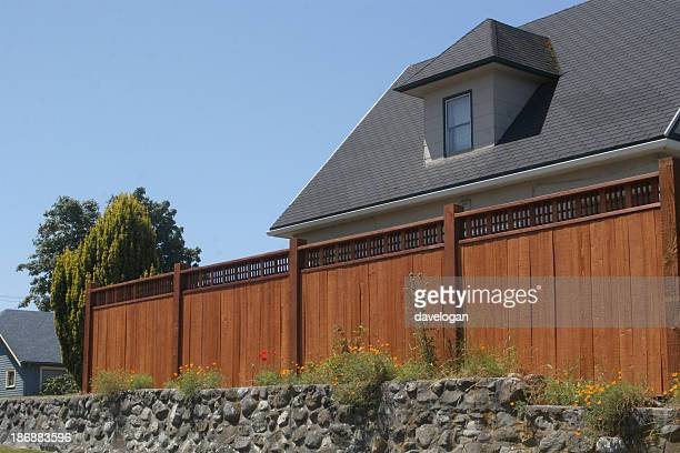 New Wooden Security Fence