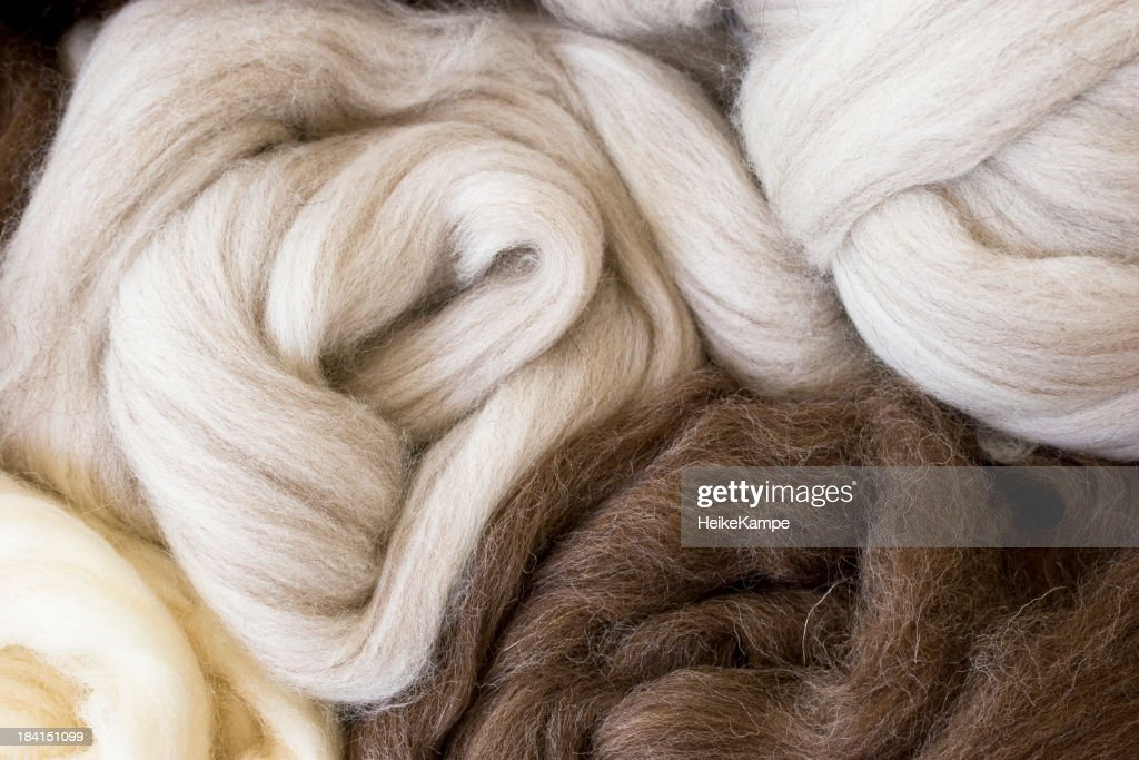 New  wool in natural colors