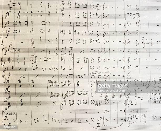 New world symphony handwritten score by Antonin Leopold Dvorak Bohemian composer Praga Prazska Konzervator