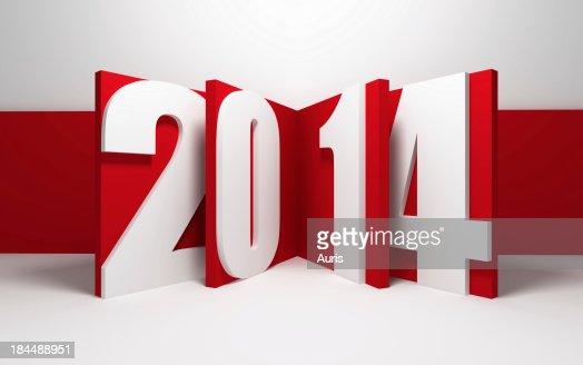 new year 2014 : Stock Photo