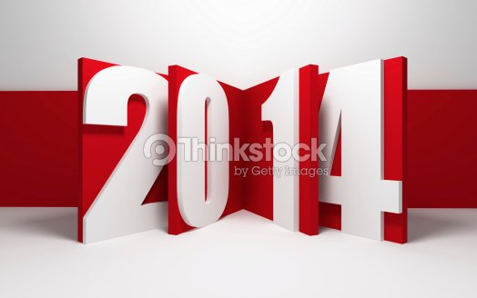 new year 2014 : Stock Photo