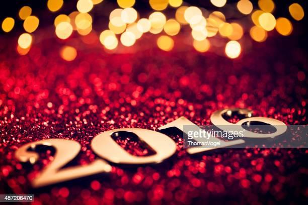 Neues Jahr 2016-Gold Text Party Feier