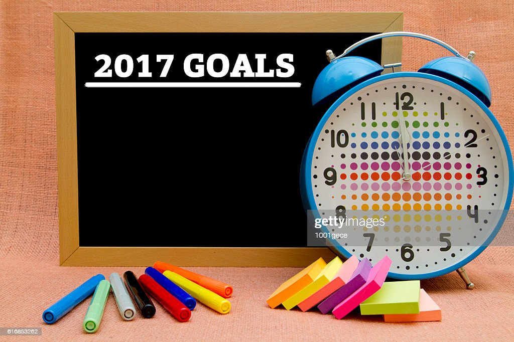 new year 2017 GOALS : Stock Photo