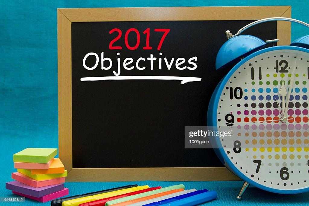 new year 2017 Objectives : Stock Photo