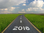 New year 2018 road start